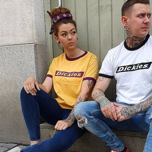 DICKIES GIRL T-SHIRT - HELLIER YELLOW
