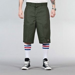 DICKIES SHORTS - MULTI-POCKET 13 OLIVE GREEN