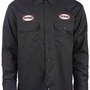 DICKIES SKJORTA - ELLISTON BLACK