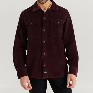 DICKIES SKJORTA - FORT POLK MAROON