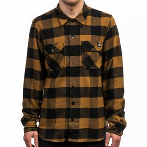 DICKIES SKJORTA - SACRAMENTO BROWN DUCKY