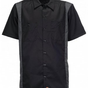 DICKIES SKJORTA - TWO TONE GRÅ