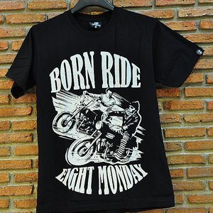 EIGHT MONDAY T-SHIRT -  BORN RIDE