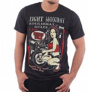 EIGHT MONDAY T-SHIRT - GARAGE TJEJ