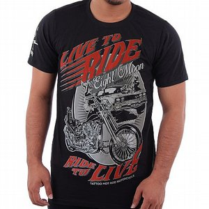 EIGHT MONDAY T-SHIRT - RIDE TO LIVE