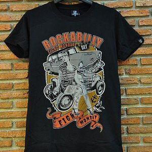 EIGHT MONDAY T-SHIRT - ROCKABILLY ORANGE