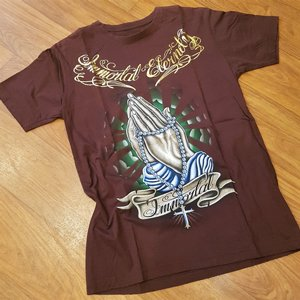 EMYEROR ELERNDY TEE - PRAYING HANDS BRUN