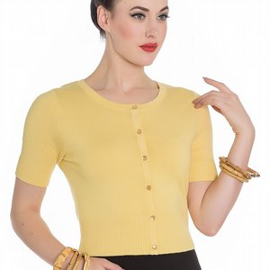 HELL BUNNY CARDIGAN - WENDI YELLOW