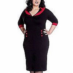 HELL BUNNY DRESS - THELMA PENCIL WIGGELE +PLUSSIZE