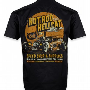 HOTROD HELLCAT SKJORTA - IN GOD WE TRUST
