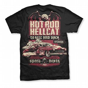 HOTROD HELLCAT T-SHIRT - SPEED DEATH thumbnail