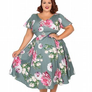 H&R LONDON KLÄNNING - LAMOUR SWING +PLUSSIZE