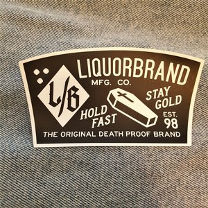 LIQUORBRAND STICKER - COFFIN