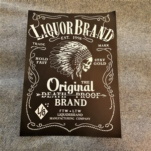 LIQUORBRAND STICKER - INDIAN