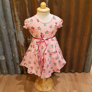 LITTLE FAIRY KIDS DRESS - DORIS CUTIE CHERRY ROSA