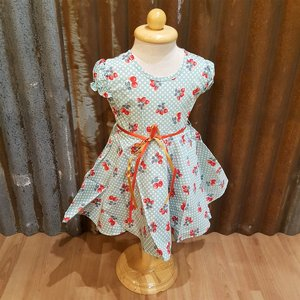 LITTLE FAIRY KIDS DRESS - DORIS CUTIE CHERRY TURKOS