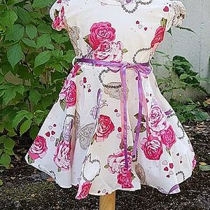 LITTLE FAIRY KIDS DRESS - DORIS CUTIE VIT M. ROSA ROSOR