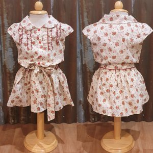 LITTLE FAIRY KIDS DRESS - HOLLY CREAM FLOWER