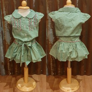 LITTLE FAIRY KIDS DRESS - HOLLY GREEN