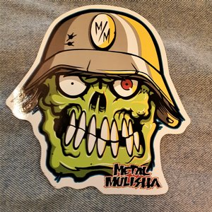 METAL MULISHA STICKER - ZOMBIE SKULL