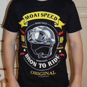 MOAI SPEED TSHIRT - BORN TO RIDE