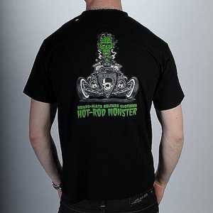 NEGRO-MATE T-SHIRT - MONSTER