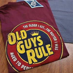 OLD GUYS RULE - AGED TO PERFECTION MAROON