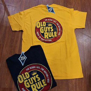OLD GUYS RULE - AGED TO PERFECTION YELLOW