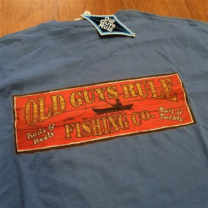 OLD GUYS RULE T-SHIRT - FISHING RED thumbnail