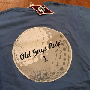 OLD GUYS RULE T-SHIRT - GOLF 1 BLUE