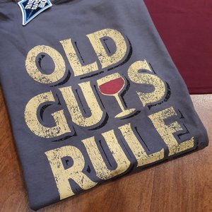 OLD GUYS RULE T-SHIRT - IMPROVED WITH AGE GRAY