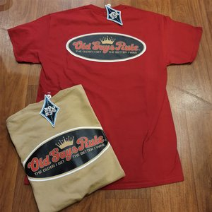 OLD GUYS RULE T-SHIRT - LOGO KAKI