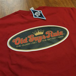OLD GUYS RULE T-SHIRT - LOGO MAROON