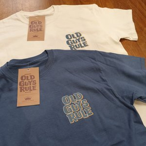OLD GUYS RULE T-SHIRT - OVER THE HILL BLÅ 3 thumbnail