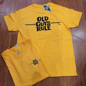 OLD GUYS RULE T-SHIRT - SURF YELLOW