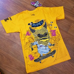 RHYMES TEE - MONSTER ORANGE