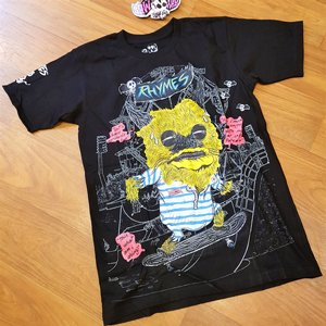 RHYMES TEE - MONSTER SVART