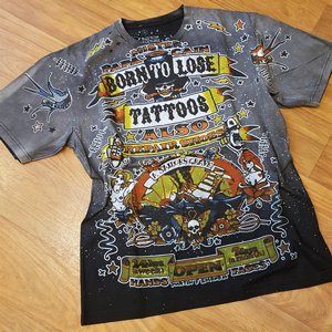 SHIROI NEKO TEE - BORN TO LOSE TATTOO SVART