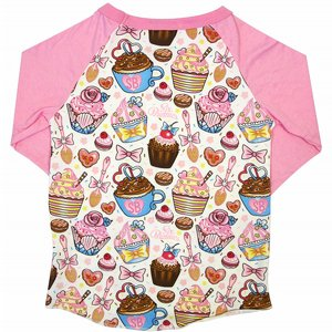 SIX BUNNIES BASEBALL TEE - CUPCAKES 2 thumbnail