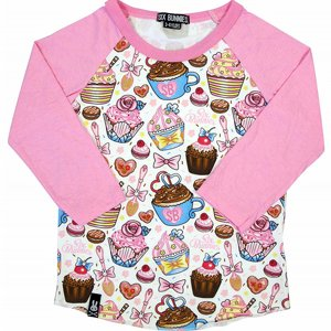 SIX BUNNIES BASEBALL TEE - CUPCAKES 3 thumbnail