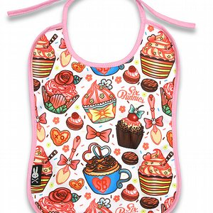 SIX BUNNIES BIB - CUPCAKES