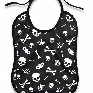 SIX BUNNIES BIB - SKULLS