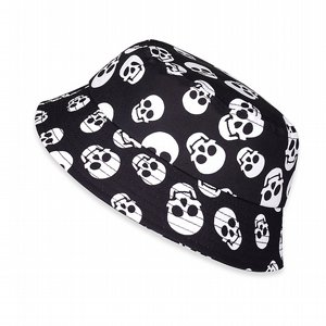 SIX BUNNIES BUCKET HAT - POLKA SKULLS