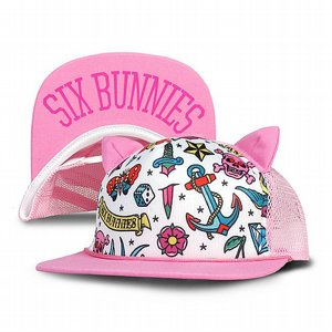 SIX BUNNIES KEPS - CUTE FLASH ROSA