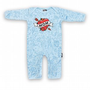 SIX BUNNIES PYJAMAS - BLUE MOM