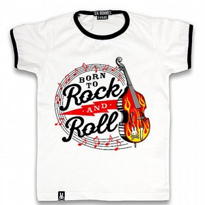 SIX BUNNIES T-SHIRT - BORN TO ROCK AND ROLL