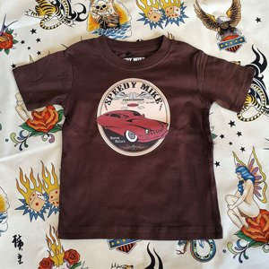 SPEEDY MIKE BARN T-SHIRT - CUSTOM BROWN