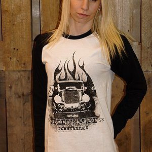 SPEEDY MIKE BASEBALL TEE - FLAMES