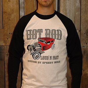 SPEEDY MIKE BASEBALL TEE - LOUD`N FAST