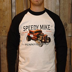 SPEEDY MIKE BASEBALL TEE - ORANGE ROD